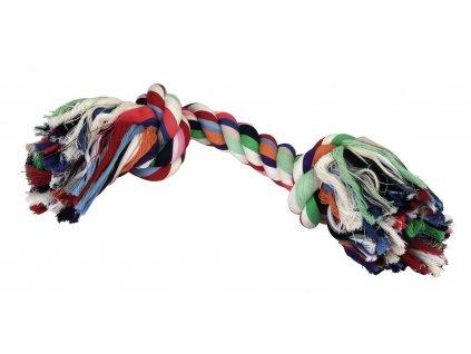 Hračka pro psy bavlněná - 2x uzel barevný, 37 cm