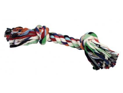 Hračka pro psy bavlněná - 2x uzel barevný, 48 cm