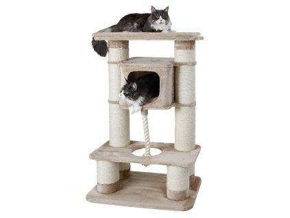 Gentle Giant, škrabadlo a odpočívadlo pro kočky, 77 x 50 x 135 cm, béžové