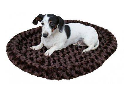 Pelíšek pro kočky a psy oboustranný, hnědý, 54 x 45 cm
