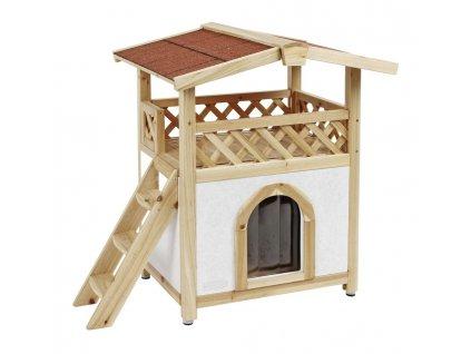 Pelíšek - zateplená bouda pro kočky TYROL ALPIN, 88x57x77cm