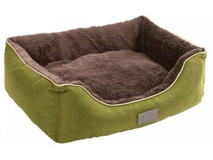 Pelíšek SAMUEL pro psy a kočky, zelený, 50 x 40 x 15 cm