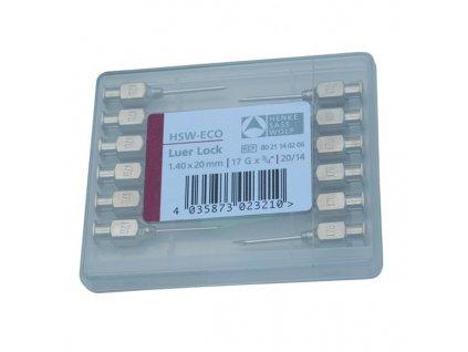 SAS HENKE Jehly injekční HSW Eco, 12 ks, Luer-Lock, 1,4 x 25 mm