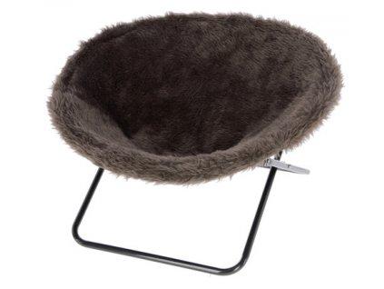 Pelíšek pro kočky SHARON - židle pro kočky, hnědá
