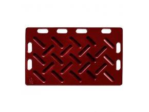 Zábrana dělící a naháněcí, 125 x 76 x 2,5 cm, červená