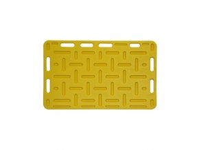 Zábrana dělící a naháněcí, 125 x 76 x 2,5 cm, žlutá