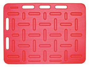 Zábrana dělící a naháněcí, 92 x 76 x 2,5 cm, červená