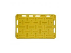Zábrana dělící a naháněcí, 92 x 76 x 2,5 cm, žlutá