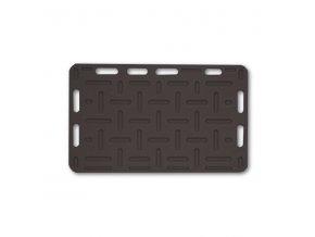 Zábrana dělící a naháněcí, 92 x 76 x 2,5 cm, černá