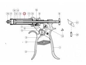 Válec skleněný  pro poloautomat Roux-Revolver, 10 ml