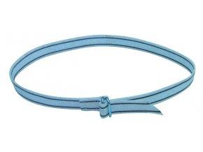 Řemen krční pro značení skotu, bílý s pruhy, 130 cm