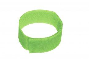 Páska na suchý zip, zelená, 10 ks
