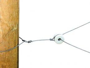 Izolátor rohový pro elektrický ohradník, porcelánový