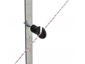 Izolátor kruhový distanční pro elektrický ohradník, se závitem M6 a maticemi, 8 cm