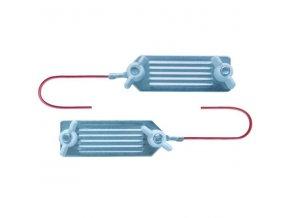 Kabel propojovací pro el. ohradník - páska na pásku 5 cm, 80 cm