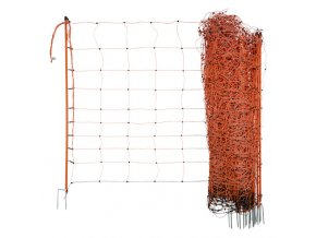 Síť pro elektrické ohradníky na ovce Ovinet 90 cm, 50 m, 2 hroty, oranžová