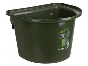 Závěsný kbelík na krmivo 12 l, bez madla, tmavě zelený