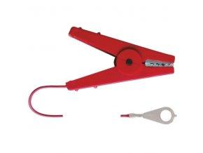 Kabel propojovací pro el. ohradníky - zdroj/páska, 100 cm, červený