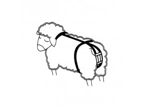 Bandáž proti výhřezu dělohy pro ovce, nylonová