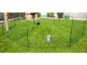 Síť elektrická pro králíky a jiné hlodavce, 12 m, 1 hrot, zelená