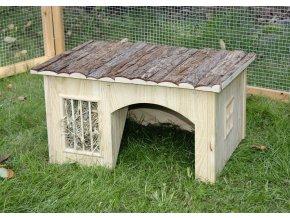 Domek pro králíky, s jeslemi na seno, 42 x 34 x 27 cm