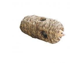 Domek pro křečky a malé hlodavce - tunel z trávy, 6 děr