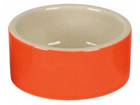Miska na krmivo keramická, kulatá, 250 ml barevný mix