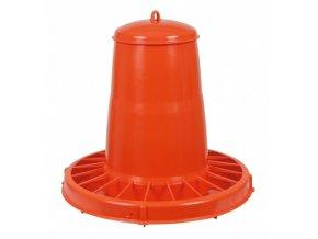 Automat krmící pro drůbež, oranžový, 20 l