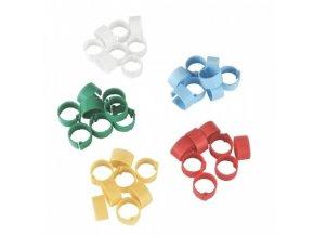 Kroužky na slepice, 5 barev, 16 mm, 100 ks