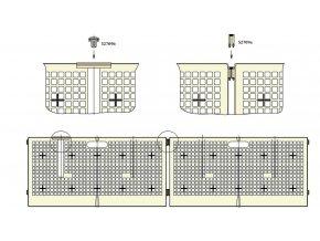 Ohrádka pro kuřata, 40 x 80 cm, plastová