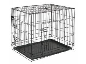 Přepravní box, klec do auta pro psy, 92 x 63 x 74 cm, 2 dveře