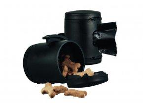 Schránka na pamlsky nebo sáčky k vodítku Flexi Classic/Comfort, černá