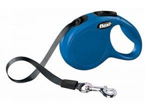Vodítko samonavíjecí Flexi Classic XS 3 m/12 kg, páska, modré