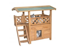 Pelíšek - bouda pro kočky LODGE, 77x50x73cm