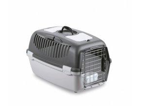 Přepravka pro psy a kočky Gulliver 3 DELUXE, 61x40x38cm, šedá