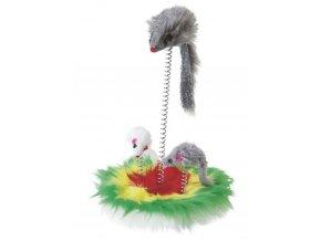 Hračka pro kočky - mouse swing, s catnipem