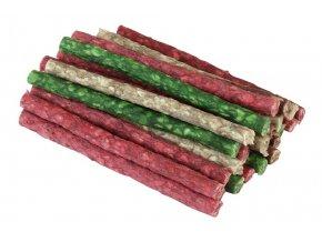 Tyčinka žvýkací - barevný mix 12,5 cm, 100 ks