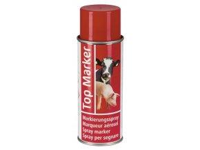 Sprej značkovací TopMarker 200 ml, na zvířata, 200 ml, červená