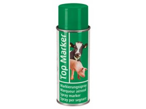 Sprej značkovací TopMarker 200 ml, na zvířata, 200 ml, zelená