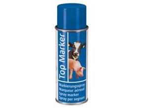 Sprej značkovací TopMarker 200 ml, na zvířata, 200 ml, modrá