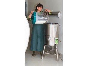 KERBL stojan k nádobě na ohřev mleziva, 50 L