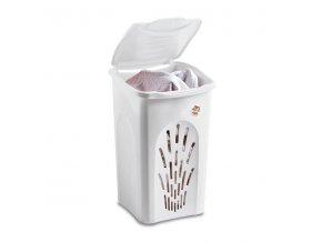 Koš na prádlo, bílý,50 l, 37x37x56