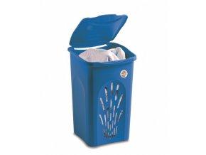 Koš na prádlo, modrý,50 l, 37x37x56