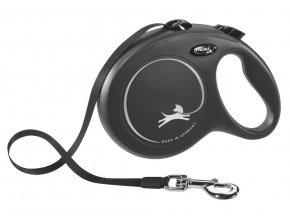 Vodítko samonavíjecí Flexi New Classic L 8 m/50 kg, páska, černé