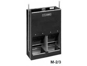 Automatické krmítko, samokrmítko pro prasata se zvlhčováním Domino SLOP FEEDER M-2, 100 l / 70 kg pro 30 prasat