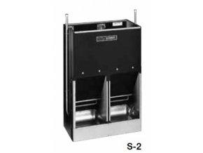 Automatické krmítko, samokrmítko pro prasata se zvlhčováním SLOP FEEDER S-2, 120 l / 84 kg pro 30 prasat