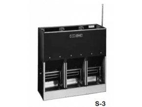 Automatické krmítko, samokrmítko pro prasata se zvlhčováním SLOP FEEDER S-3, 180 l / 126 kg pro 45 prasat