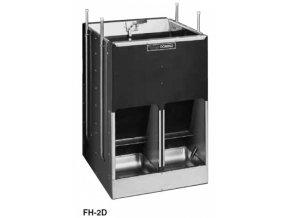 Samokrmítko Domino MIXER FH-1 se zvlhčováním, pro prasata, 140 l / 100 kg pro 48 prasat