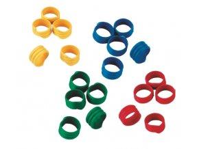 Kroužky na slepice, spirálové, 4 barvy, 12 mm / 12 ks