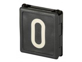 """Čísla plastová DUO pro skot, krční řemeny """"0"""", černá, 6 ks"""